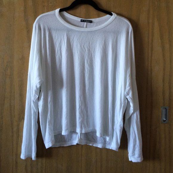 Soft White Long Sleeve Brandy Melville Top NWOT Brandy Melville Tops Tees - Long Sleeve