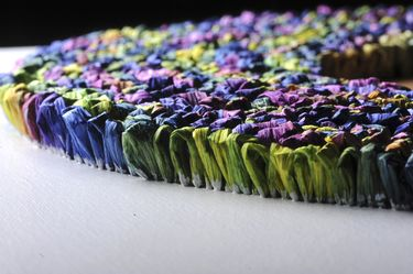 "Saatchi Art Artist Graziella Coi; Painting, ""12x12_Multicolor Flowers (Detail 3)"" #art"