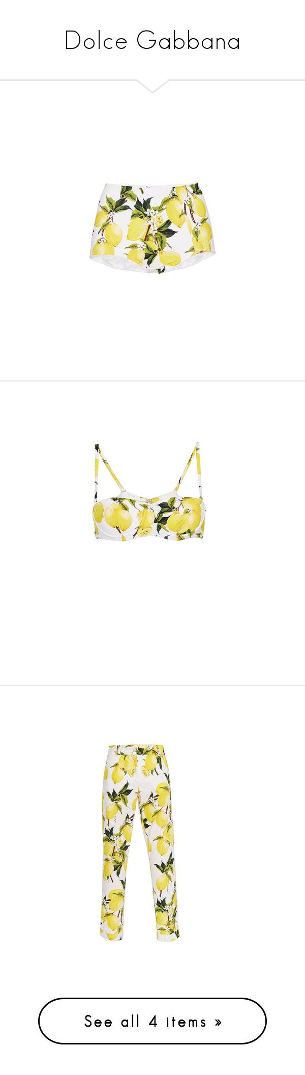 """""""Dolce Gabbana"""" by diane-fritz-sager ❤ liked on Polyvore featuring swimwear, bikinis, high waisted boy short bikini bottoms, highwaisted bikini bottoms, boy shorts swimwear, high-waisted swimwear, boy short bikini, bikini tops, swim and lemon bikini"""