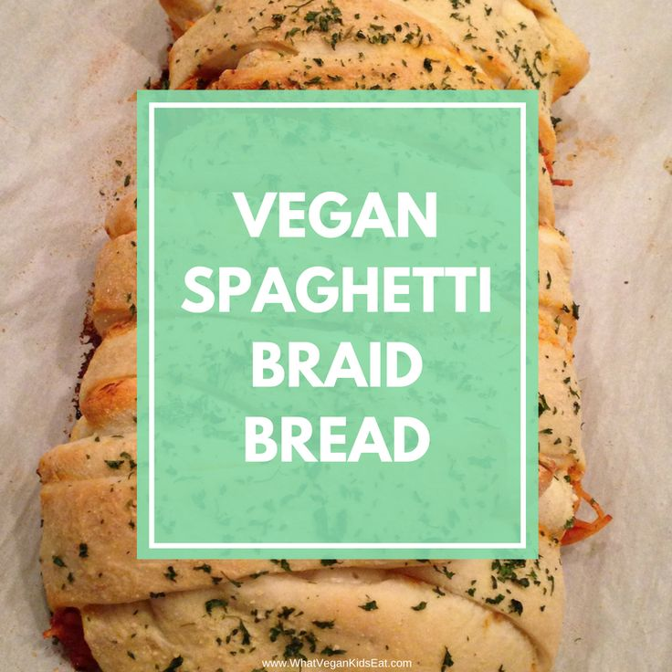 VEGAN Baked Spaghetti Braid Bread