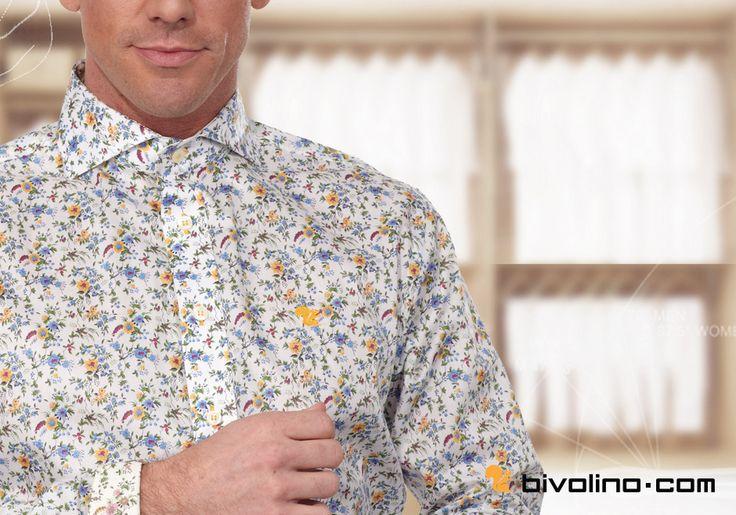 une chemise fleur sur mesure cr e la carte avec un beau tissu fleur liberty un cureuil. Black Bedroom Furniture Sets. Home Design Ideas