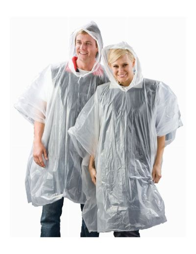 Its nearly Guy Fawkes!  Check out our poncho that will keep the rain off you whilst you are watching all those fireworks!!! (Hopefully you wont need it!)  100% Degradable Recyclable Re-usable Adult Unisex Poncho Roomy drawstring hood Waterproof, lightweight & compact Clear frosted colour Resealable clear bag One size fits all