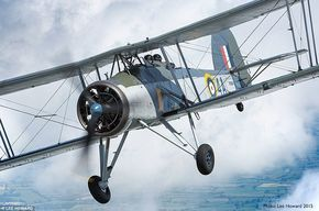 ThisRoyal Navy Swordfish biplane will take to the skies over London this weekend to mark ...