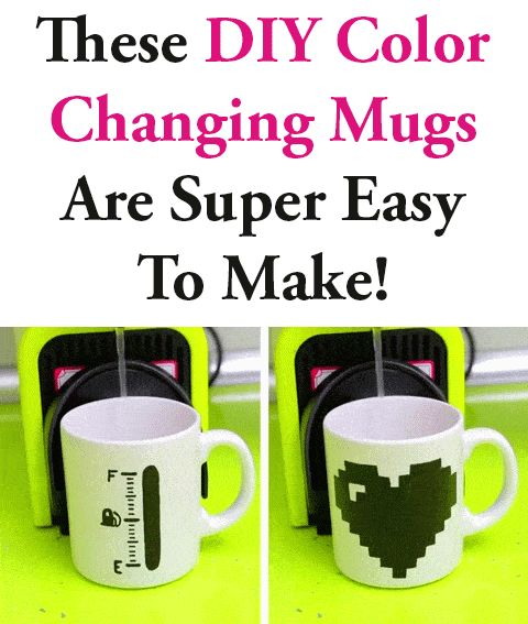 In this video you'll learn how to make your very own handmade DIY Color Changing Mugs. See it here==>  http://gwyl.io/diy-color-changing-mugs/