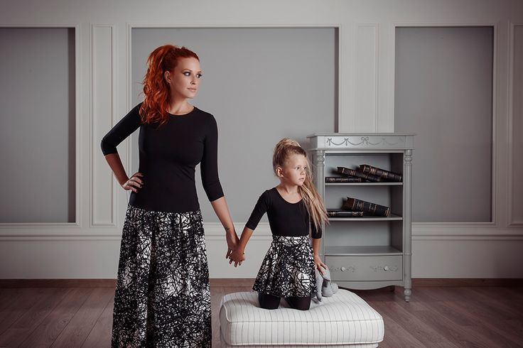 #FallWinter14_15 #MotherAndDaughter #Set #MiniMe Skirt Made From Especially Stable Material! Fit The Body Beautifully And Its Full Opening Gives It A Beautiful Style for me and mini me. Shop Online>> http://www.sissychristidou.com/en/women/mommy/women-set.html