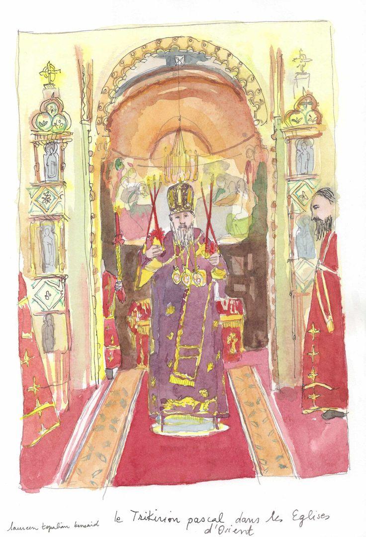 Russian church watercolor https://www.etsy.com/fr/listing/538924577/aquarelle-originale-eglise-russe-paques