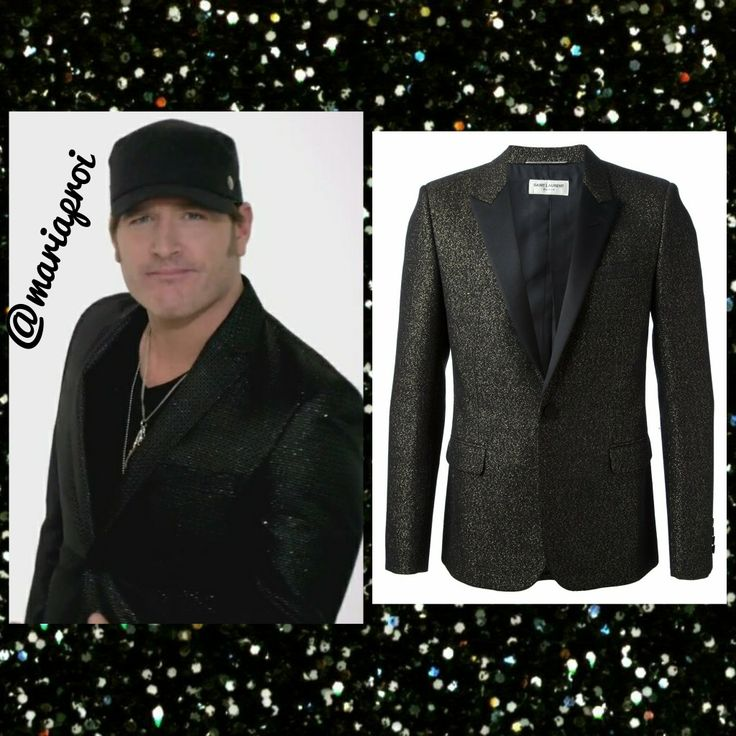 Get a similar sparkly style to Jerrod Niemann in his DRINK TO THAT ALL NIGHT music video with Saint Laurent's Contrasting Lapel Metallic Jacket @ysl