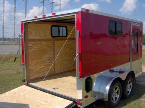 7x12 Enclosed Cargo Motorcycle camper Trailer 3 Windows | eBay