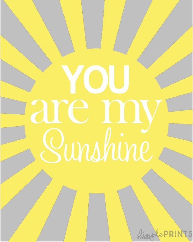 You are my sunshine - lots of free printable Spring art