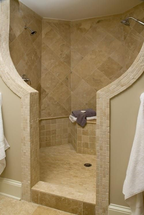 Love this open shower