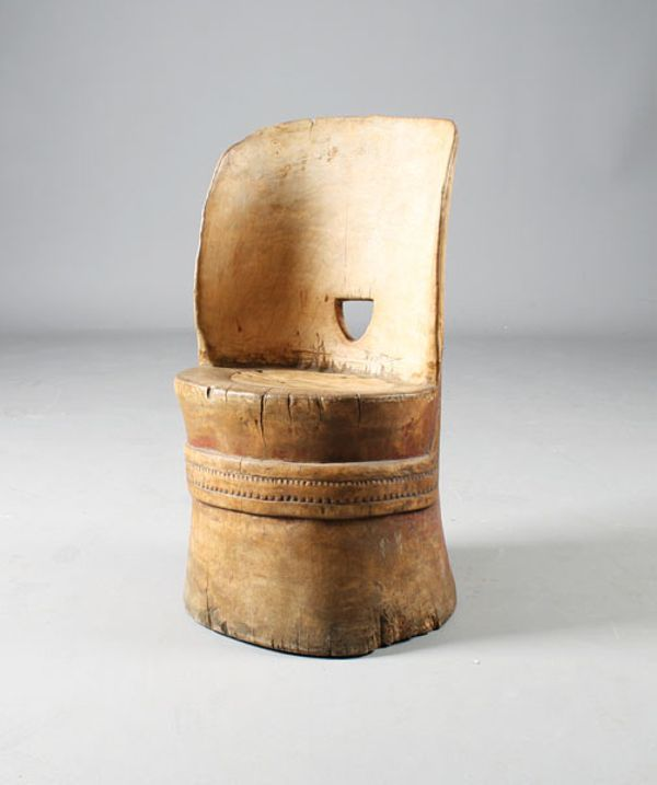 norsk kubbestol ~ norwegian log chair (kubbestol) from telemark from 1700s