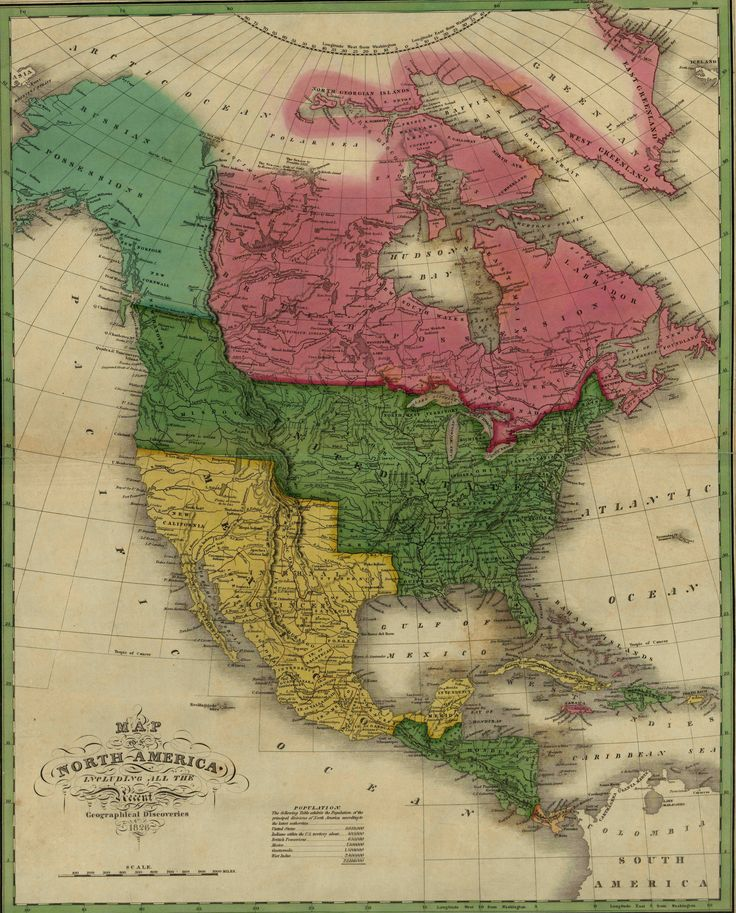 Anthony Finley Map of North America