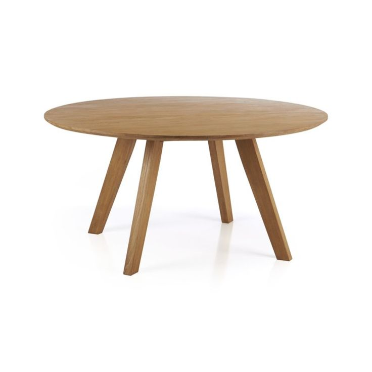 """Details and Dimensions $1999, Cayman table Cayman 60"""" Round Dining Table 60"""" dia. x 29.5""""H HandcraftedSolid teakCorner-blocked joinery and floating apronWater-b..."""