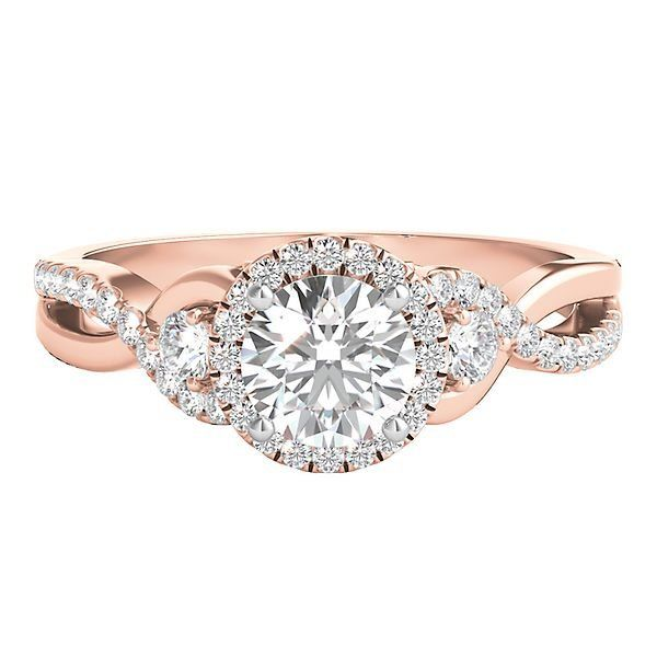 Helzberg Limited Edition® 1 ct. tw. Diamond Engagement Ring in 14K Rose & White Gold - 2277791 - Helzberg Diamonds