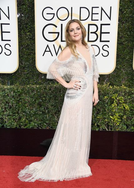 Drew Barrymore in Monique Lhuillier - Every Best Dressed Look from the 2017 Golden Globes - Photos