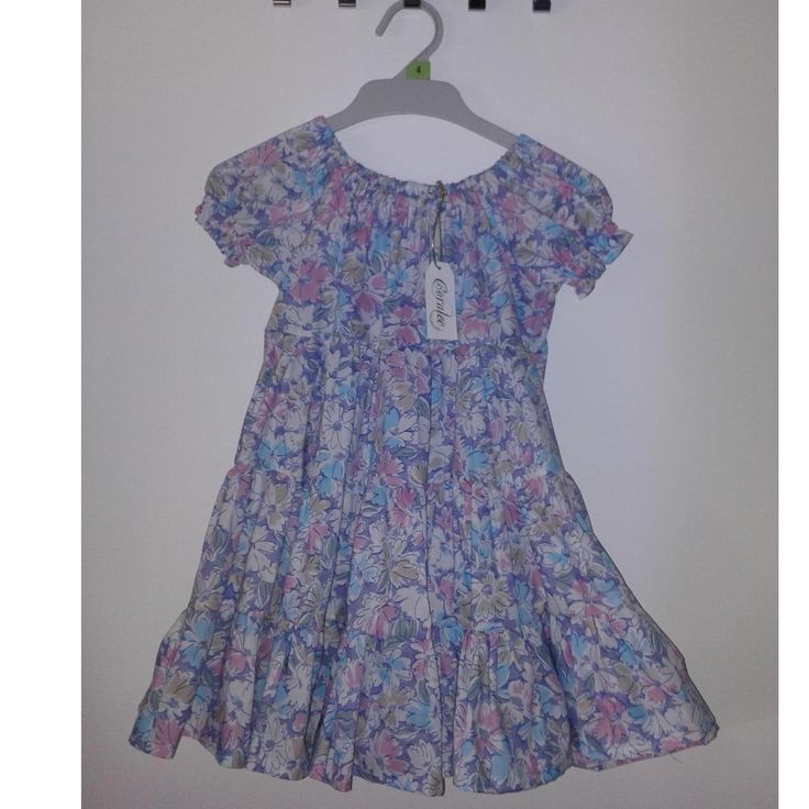 $32.00 Girls size 4 Peasant dress by CoraleeHandcraftedDesigns on Handmade Australia