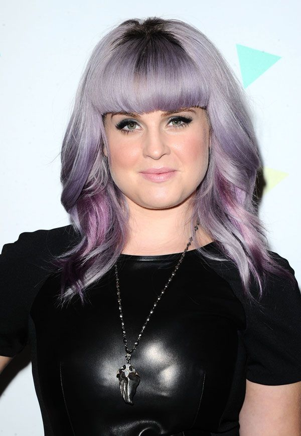 Kelly Osbourne Adds Big Bangs to her Lilac Locks - Celebrity hair