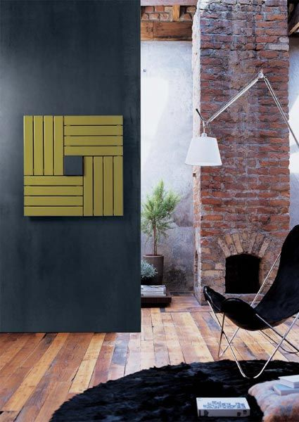 Steel painted wall radiator