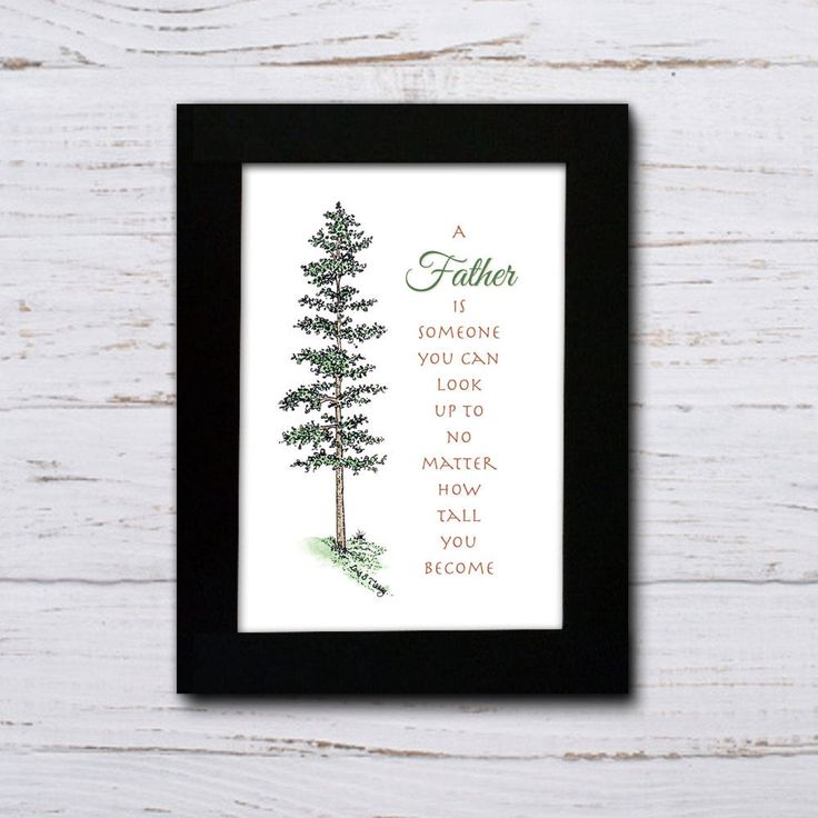 A Father is someone you can look up to no matter how tall you become, original art/typography print by ArtBlessed on Etsy