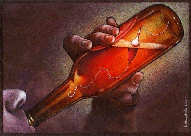 Alcoholism by Pawel Kuczynski