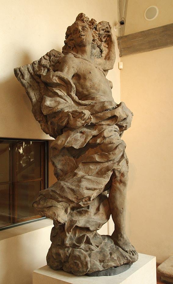 Mathias Bernard Braun - Angel2,(1717-1718)sandstone,245cm,Prague-National gallery