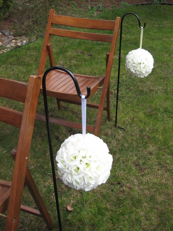 The 84 best wedding decor images on pinterest wedding decor shepherd hooks to mark the aisle wedding aisleswedding decorwedding flower bouquetsoutdoor junglespirit Images