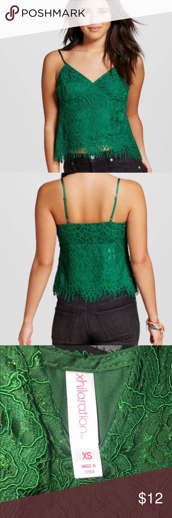 ❤NWT❤ green lace crochet cami. - NWT, size extra small lace green crochet cami❤ Xhilaration Tops Camisoles
