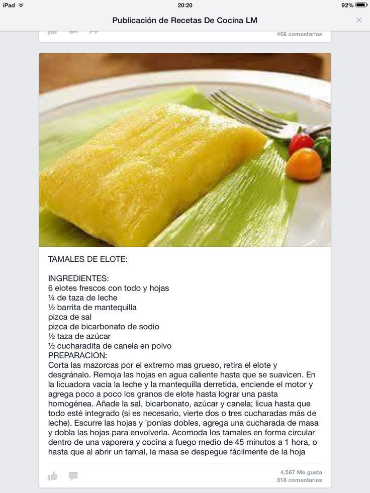 ^^ Tamales de elote :)