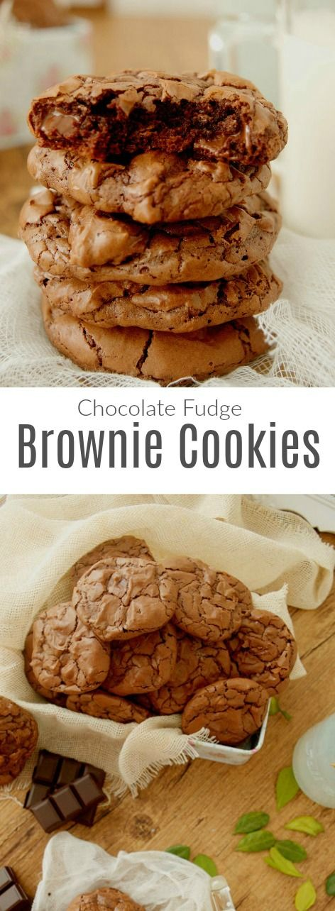 Chocolate fudge brownie cookies -  Amazing! Back to school!!  Patty's Cake (English recipe included)