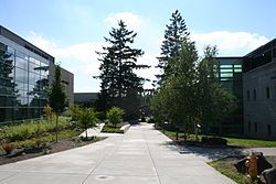 Portland Community College (or PCC) is Oregon's largest community college, located in Portland, United States. It serves over one million residents in the five-county area of Multnomah, Washington, Yamhill, Clackamas, and Columbia counties. PCC enrolls over 83,000 (55% female, 45% male) students annually in this 1,500 square miles area in northwest Oregon.