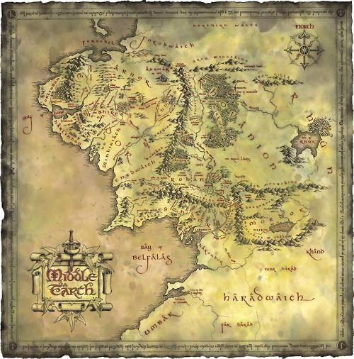 I plan on collecting some fictional map, as this map of Middle Earth from Lord of the Rings! c: