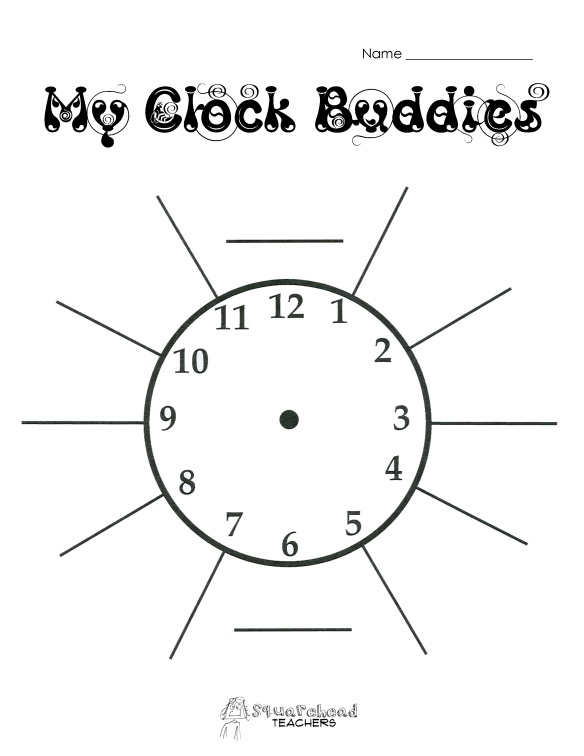 clock buddies (FREE printable) - the easy way to partner your students AHEAD of time!
