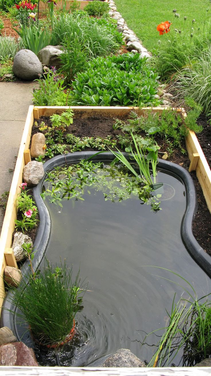 394 best outdoor water features images on pinterest for Diy pond liner ideas
