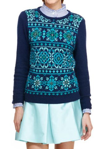 Floral Fair Isle Sweater