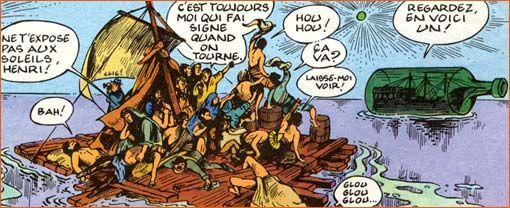 """Fred, Philémon (Le naufragé du """"A""""), 1996 after géricault """"le radeau de la méduse"""""""