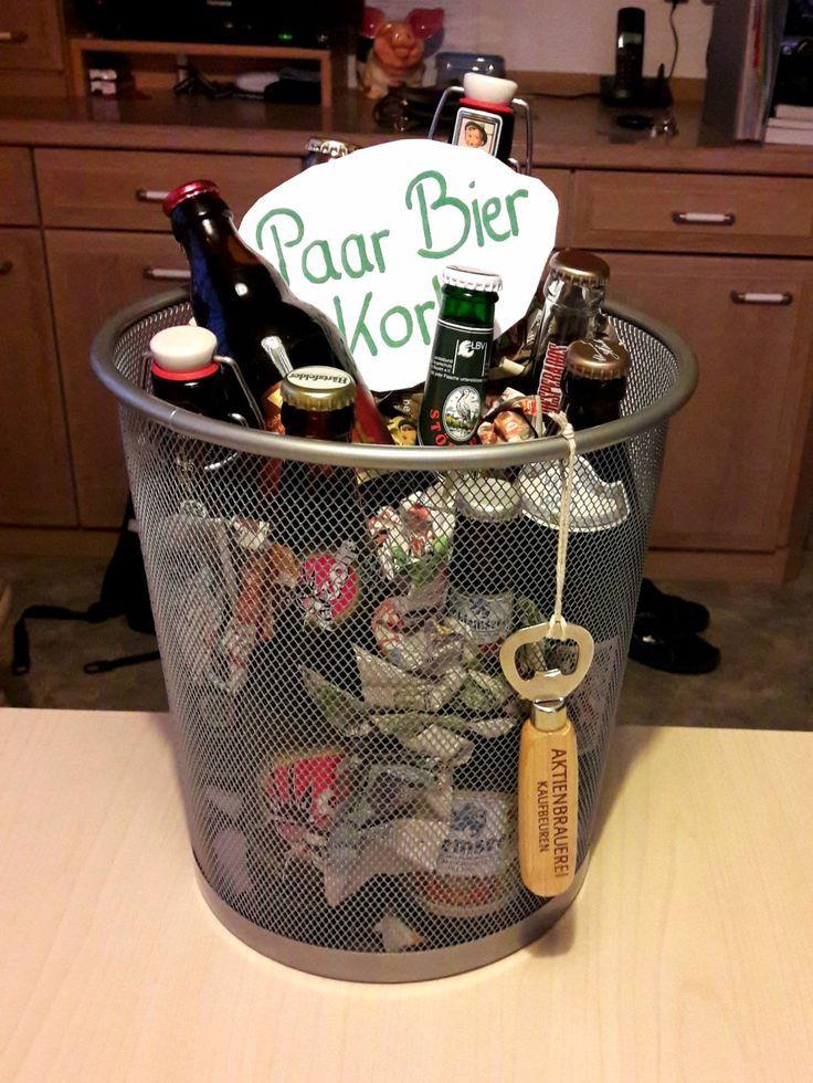 Über einen Paar Bier Korb zum Geburtstag freut sich jeder Mann
