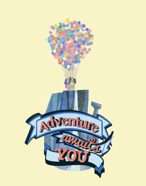 Disney Up Carl and Ellie.. Adventure Awaits You by studiomarshallarts on Etsy, $3.50