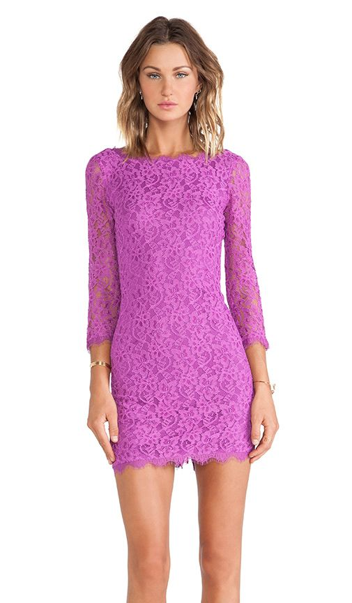 DVF lace dress