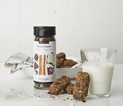 Barres granola au cacao croquant