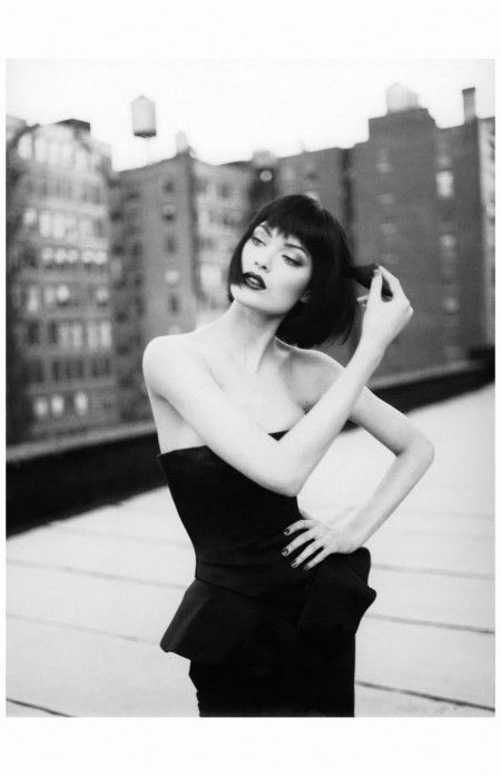 Shalom Harlow in John Galliano Photo Patrick Demarchelier, US Harper's Bazaar, 1995