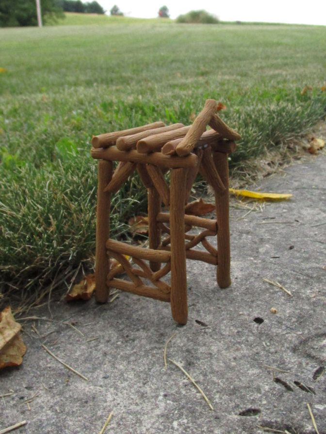 Clay Twig Arbor, Miniature Handmade Arbor, Fairy Garden Arbor, Hobbit Garden Decor by CharlottesCreatives on Etsy