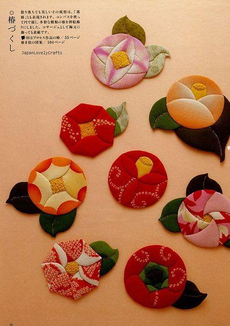 Chirimen Handmade Crafts - Japanese Traditional Craft Book - Crepe Fabric Retro Zakka - Oshie, Hanging Ornament, Temari - Katsumi Yumioka 5 by JapanLovelyCrafts, via Flickr
