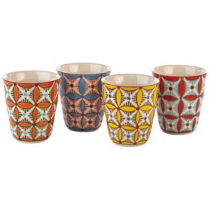 Lot de mugs Hippy – Home autour du monde
