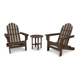 Trex Outdoor Furniture Cape Cod 3-Piece Plastic Patio Conversation Set