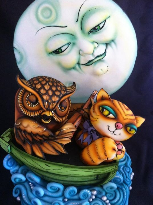 The owl and the pussycat cake. Wow!