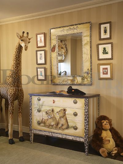 Designer Baby Children room, luxury baby kids furniture and bedding, safari jungle themed rooms