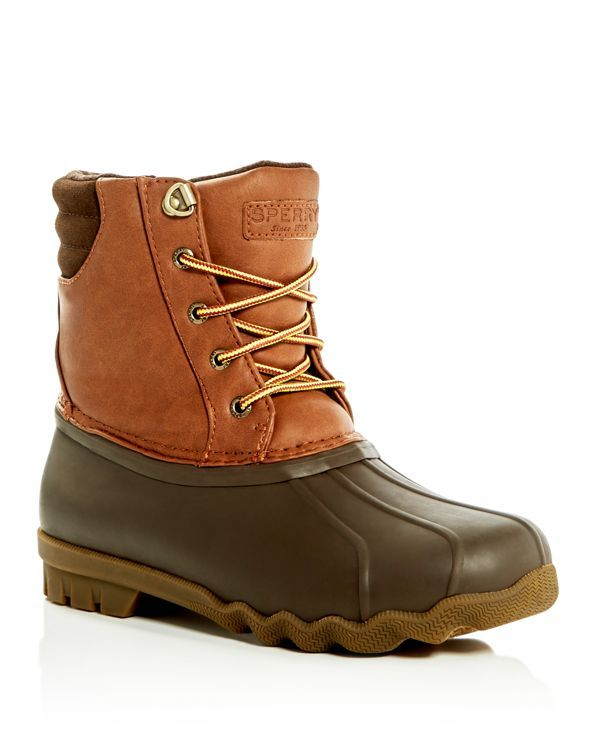 Sperry Boys' Avenue Duck Boots - Toddler, Little Kid, Big Kid | Upper: rubber/synthetic leather/synthetic suede; lining: synthetic textile; sole: rubber | Imported | Fits true to size. If between size