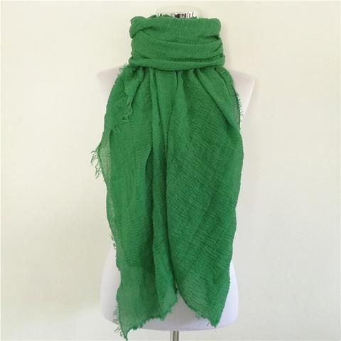 Solid Color Linen Cotton Winter/Autumn Scarves For Women - 20 colours green Scarves Women winter autumn fashion style products gift outfit accessories fall simple beautiful chic shops ideas  shop store sell buy online 2017 websites