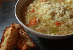 Pastina ~ Chicken Soup for the Italian Soul ~ Italiafornia.  Simmer with Parmesan rind; also add 2 beaten eggs to boiling soup, stir and cook for two minutes.