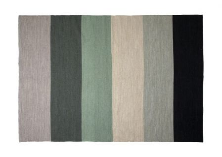 Dette tæppe har lidt mere neutrale farver - men så stadigvæk giver ...